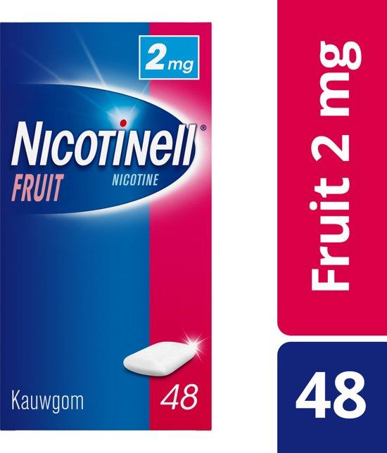 Nicotinell fruit 2 mg kauwgom - 48 stuks - Antirookbehandeling