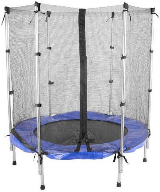 ScSports - Fitness Mini Trampoline - met veiligheidsnet ca. Ø 140 cm - kinderen 3 tot 8 jaar - max.  Belastbaar 100 kg