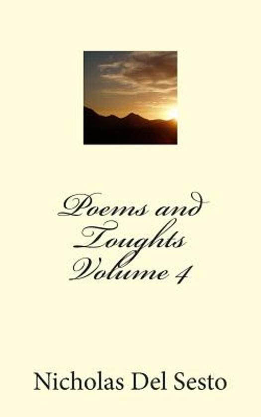 Poems and Thoughts Volume 4
