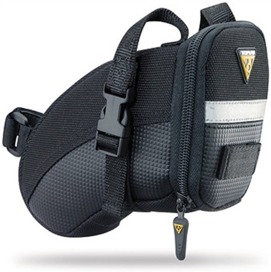 Topeak Aero Wedge Packs Small - Met Strap - Zadeltas - 0.65 l - Zwart
