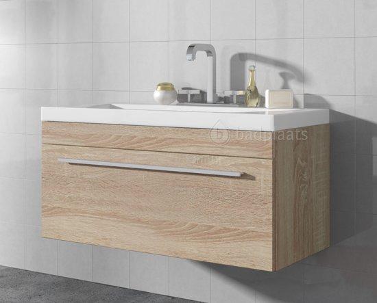 Bol badplaats badkamermeubel porto cm licht eiken kast