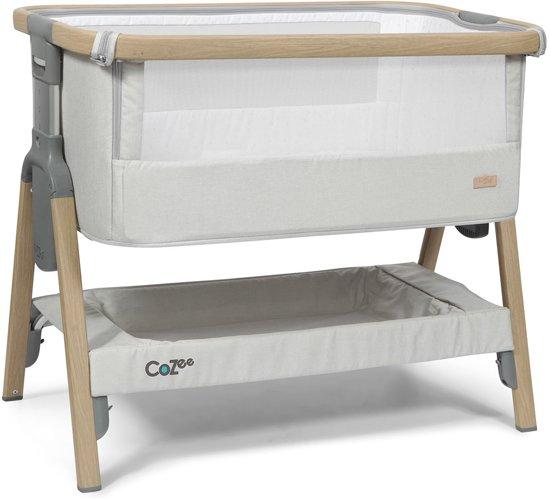 Topmark Tutti Bambini Cozee Bedside Wieg Oak Silver