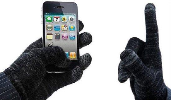 Avanca Touchscreen Handschoenen - two tone fuzzy black