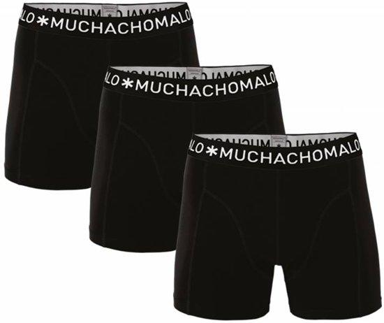 12eef0e315c9f0 bol.com | Muchachomalo heren boxershorts 3-pack - Zwart Maat: M
