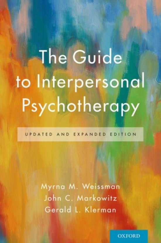 Weissman, M. M., Markowitz, J. C. & Klerman G. L. 2018. The Guide to Interpersonal Psychotherapy Updated and Expanded Edition. New York: Oxford university press
