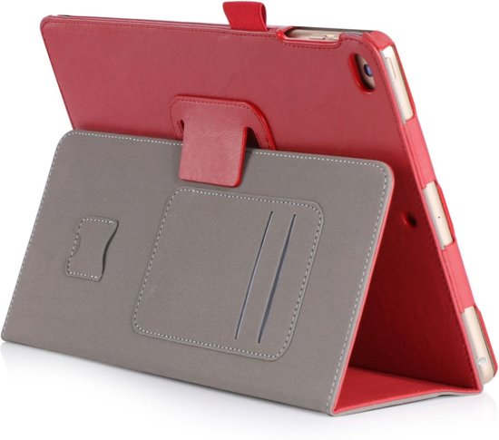 Shop4 - iPad 9.7 (2017) Hoes - Book Cover Cabello Rood in Vierves-sur-Viroin