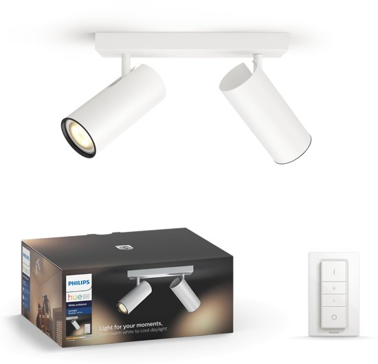 Philips Hue Buratto opbouwspot - White Ambiance - 2-lichts - wit