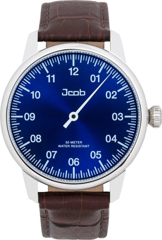 Jcob Einzeiger JCW003-LS01 staal - blauw - herenhorloge - 45mm