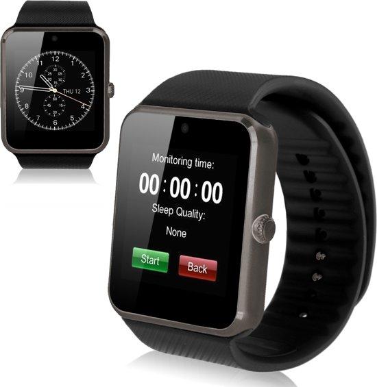 SmartWatch-Trends Bluetooth SmartWatch - Met SIM Kaart Slot -  Android - Zwart - Polsomtrek 16 tot 20 cm