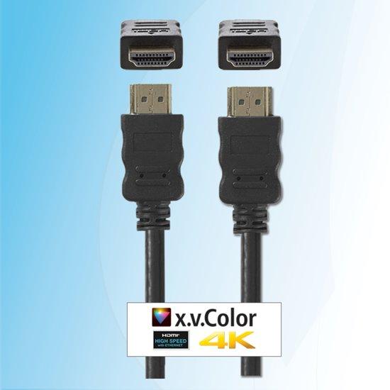 Budget 10 meter HDMI kabel 4K Ultra HD 3D geschikt: TV, Beamer, Laptop, PS3, PS4