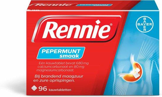 Bolcom Rennie Pepermunt 96 Kauwtabletten Maagzuurremmers