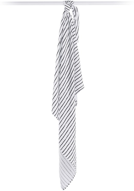 Lulujo swaddle 70% bamboo/30% katoen 120x120 cm - Black Stripes
