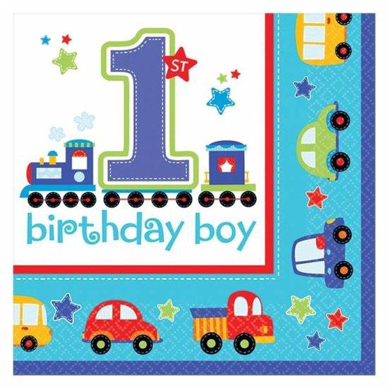 Populair bol.com | Servetten eerste verjaardag jongen transport &TV54