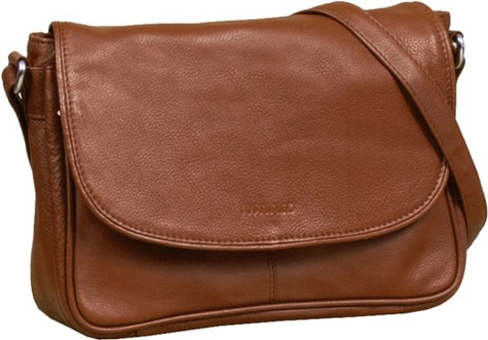 Nappa Big Flap 2 Pocket Cognac 25x7.5x18cm