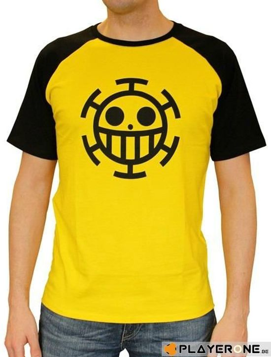 Merchandising ONE PIECE - T-Shirt PREMIUM Homme Trafalgar Law - Yellow (S)
