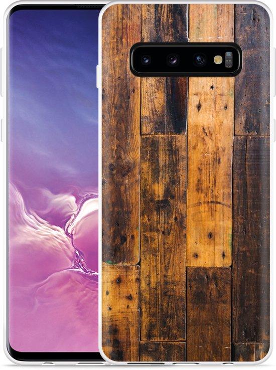 Galaxy S10 Hoesje Special Wood