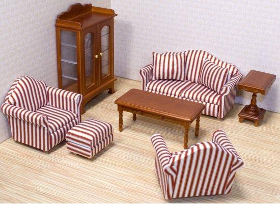 bol.com | Victoriaans poppenhuis woonkamer meubels, Merkloos | Speelgoed
