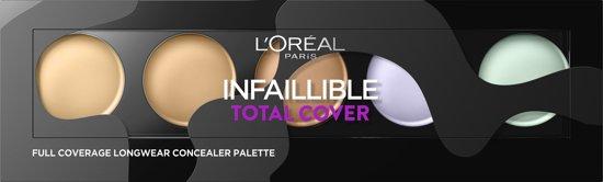 L'Oréal Paris Infallible Total Cover Concealer Palette - 105 Red Fiction