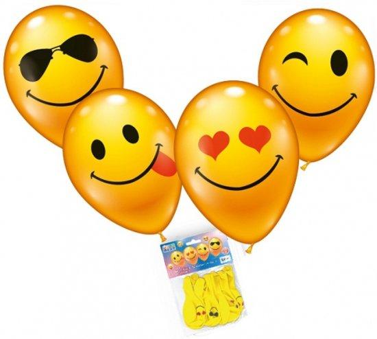 Smiley ballonnen 8 stuks Valentinaa
