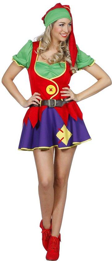 Dwerg & Kabouter Kostuum   Stoute Kabouter   Vrouw   Maat 46   Carnaval kostuum   Verkleedkleding
