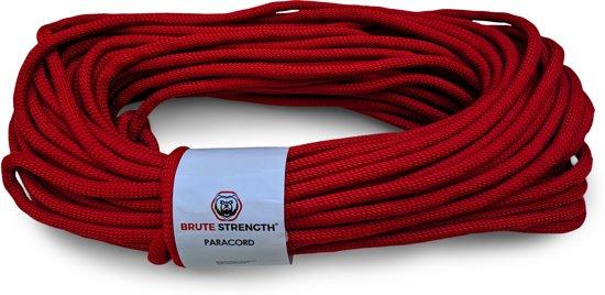 Paracord - Touw - 8 mm - 30 meter - Rood -  Vismagneet touw - Magneetvissen touw-  920 kg trekkracht