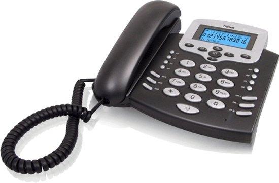 Profoon TX-650 Bureautelefoon | Extra groot LCD display en extra grote toetsen | Zilver