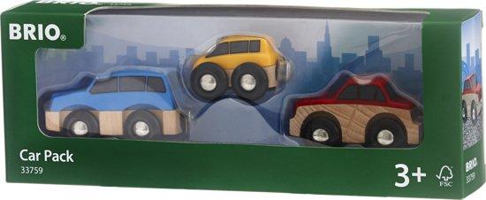 Speelgoed   Wooden Toys - Auto Set 3 Assorti
