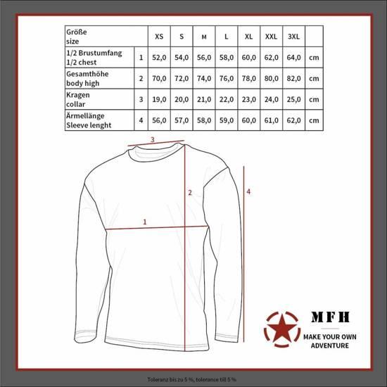 T shirt Mouw Marine Lange Zomermodel Mfh Russische tqwE64f8
