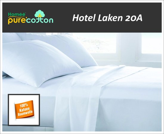 Homéé - Laken hotel Wit 100% katoen 16A 1 persoons 160x300/4cm