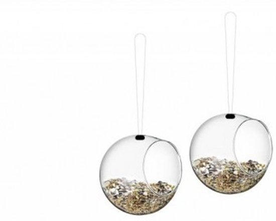 Eva Solo Vogelvoederhuisje Mini Bird - Set van 2 - Transparant