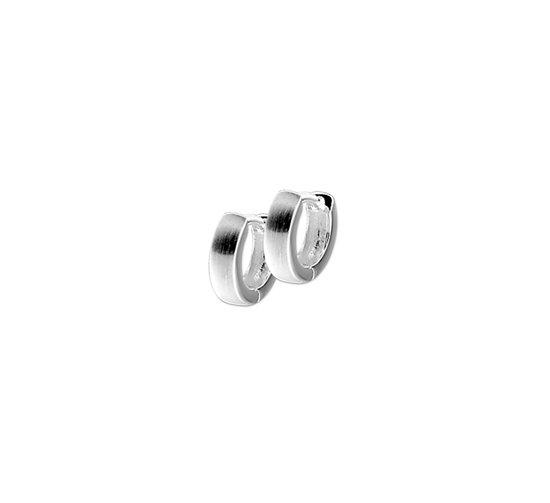 The Jewelry Collection Klapoorringen Bol Poli/mat - Zilver