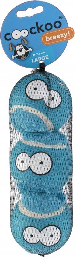 Tennisball breezy 3pcs Blauw 7,5cm