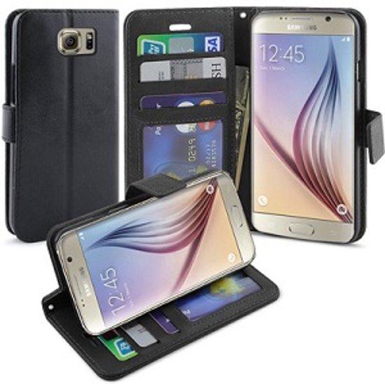 Samsung Galaxy S6 EDGE Plus Portemonnee Hoesje Case Zwart