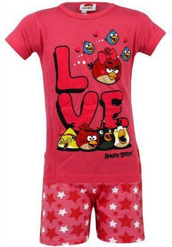 Overige Merken Angry Birds Love Shortama Roze -Maat: 104/110