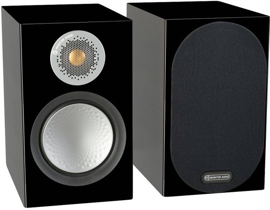 Monitor Audio Silver 50 - Boekenplank Speaker - Zwart/Glans
