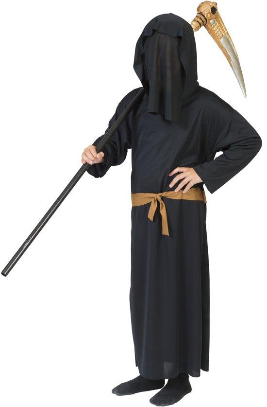 Halloween Kostuum Magere Hein.Beul Magere Hein Kostuum Enge Zwarte Dood Jongen Maat 116 Halloween Verkleedkleding