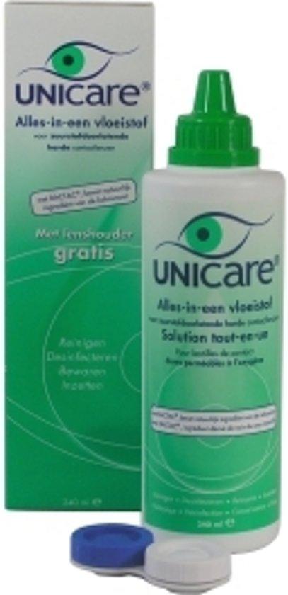 Unicare Alles-In-Eén Lenzenvloeistof Harde Lenzen - 240 ml - Lenzenvloeistof