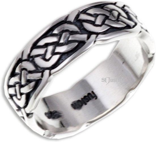 Pictish Knot (Narrow) Zilveren Ring Maat 53
