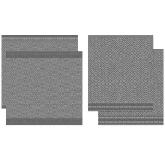 DDDDD Akira - Thee- en Keukendoekset - Grey - 2 x 2 Stuks