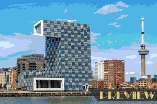 DP® Diamond Painting pakket volwassenen - Afbeelding: Stadsgezicht Rotterdam - 50 x 75 cm volledige bedekking, vierkante steentjes - 100% Nederlandse productie! - Cat.: Stad & Land