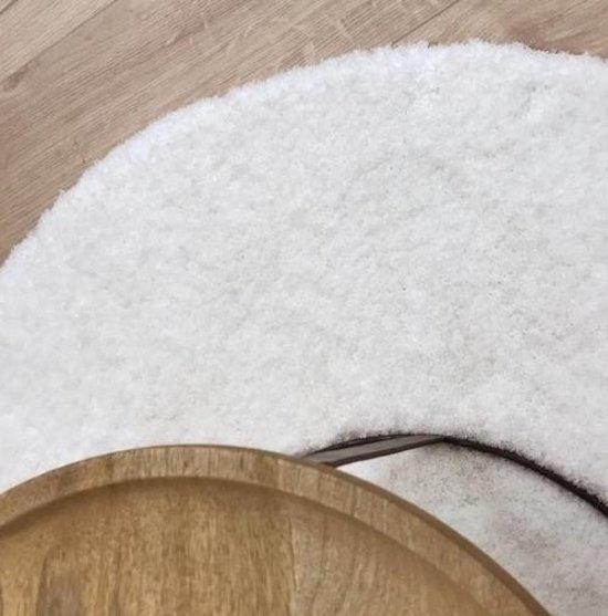 Destino 09 - Rond zacht hoogpolig vloerkleed in zuiver Wit