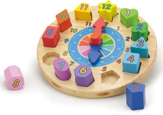 Viga Toys - Puzzelklok met Geometrische Vormen - 13 delig