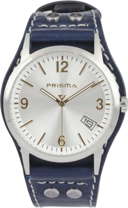 Prisma Herenhorloge P.2198 Lederen band Zilver