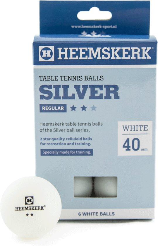 Tafeltennisballen Heemskerk Silver 2 ster wit  6 stuks