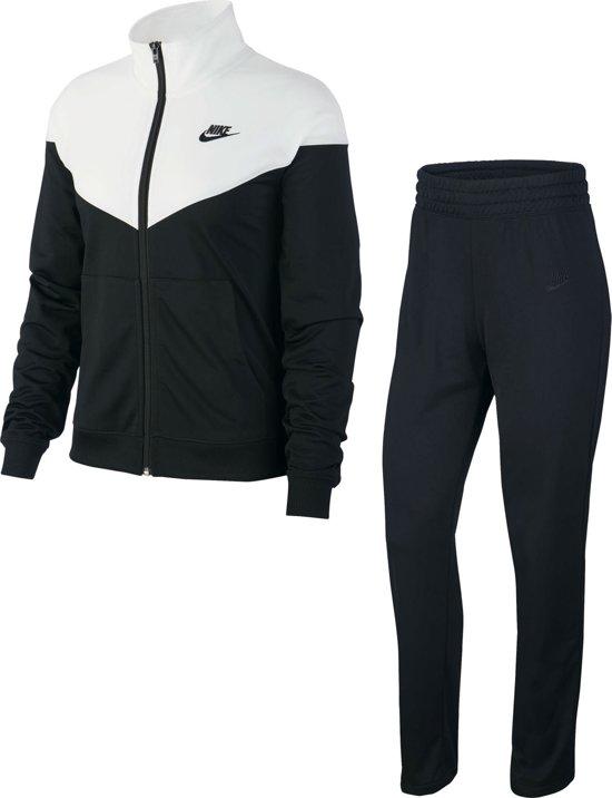 Nike Nsw Trk Suit Pk Dames Trainingspak - Black/White/(Black) - Maat M