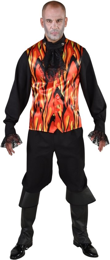 Halloween Kostuum | Hete Vlammen Hel Gilet Halloween Man | Medium / Large | Halloween | Verkleedkleding