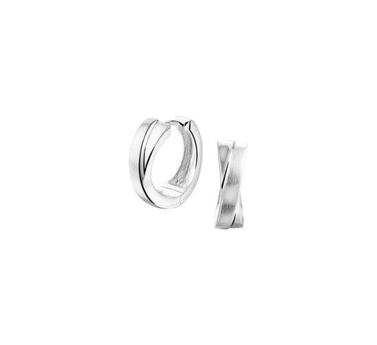 The Jewelry Collection klap-oorringen Poli/mat - Zilver