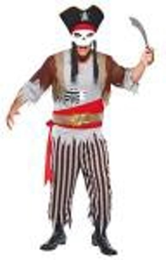 kostuum Zombie zeerover piraten kostum +zwaard- pirates of the carrabian carnaval