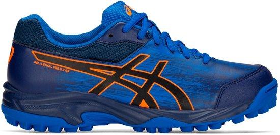 Asics Gel-Lethal Field 3 (GS) Sportschoenen - Maat 35.5 - Unisex - blauw/zwart/oranje