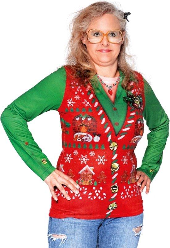 Foute Kerst T Shirt dames 3D fotoprint in de maat S/ M